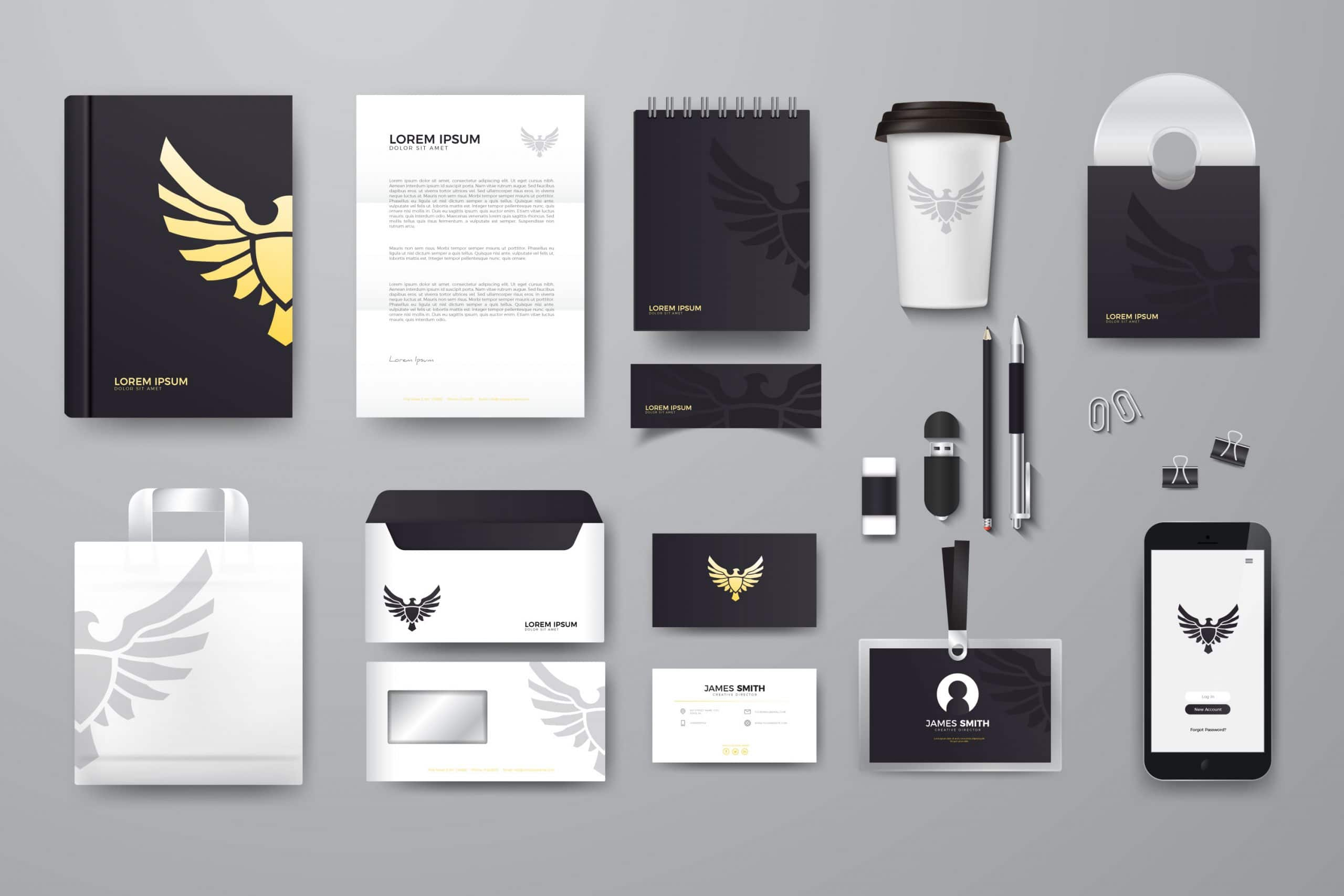 Best Graphic Design Company - Logo Business cards, Letter Head Mockup